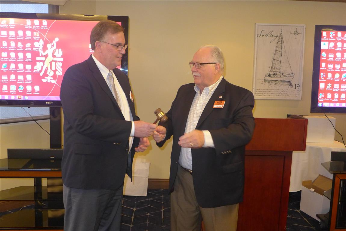Passing the Gavel to incoming President Bob Lieckfield