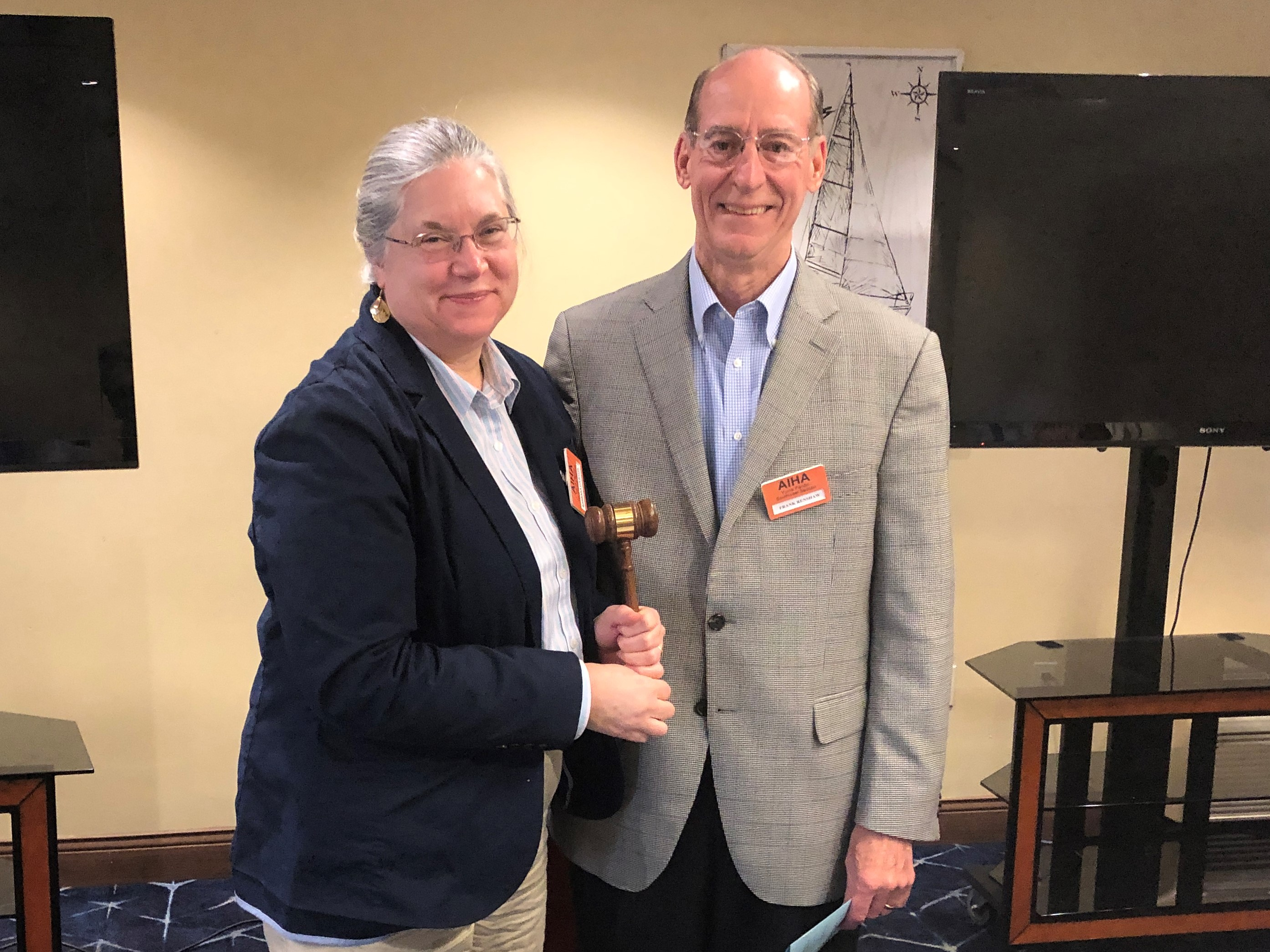 Passing the Gavel to incoming President Barbara Dawson